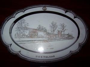 USS Toledo Plate