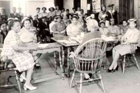 Housewives League meeting in Detroit