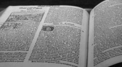 Zurich Bible printed in 1531 given to Toledo Public Library by Hirschy