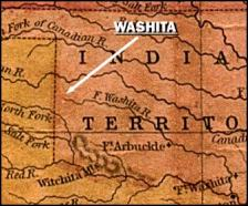 Washita River site in what is now Oklahoma