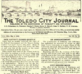 toledo city journal closing of tenderloin