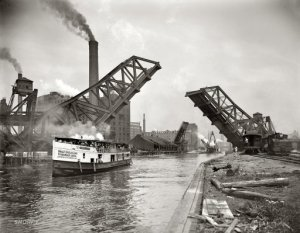 Scene from early canal in Toledo.